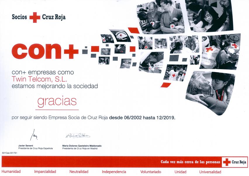 twintelcom renueva socio cruz roja 2019